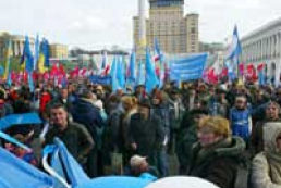 Coalition supporters again arrive to Kyiv
