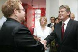 President attends Elton John concert