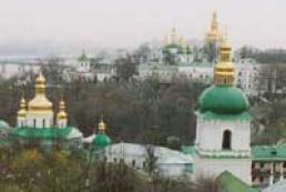 Yushchenko prayed to the Mother of God