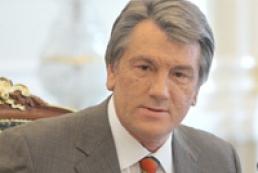 Yushchenko pays visit to Kyiv region
