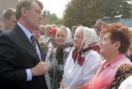 Yushchenko calls Ukrainians to vote according to conscience