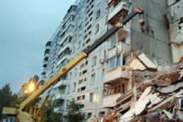 Demolition of blasted house in Dnipropetrovsk continues