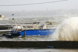 Bad weather conditions raged in Crimea