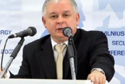 Lech Kaczyński thinks Yatsenyuk can unite parliament