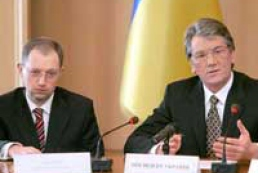 Yushchenko spoke with Yatsenyuk about PM submission