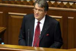 "Yushchenko wished parliament ""all the best"""