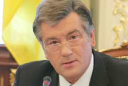 Yushchenko has left for NATO summit