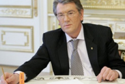 Yushchenko signed row of WTO laws