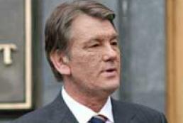 President Yushchenko welcomed President Aliyev in Ukraine