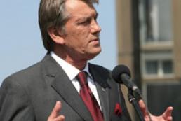 President Yushchenko welcomed in Lisbon by President Silva