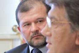 Yushchenko allows Baloha's resignation