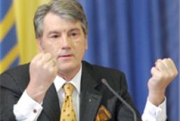 Yushchenko threatens PR and BYuT with referendum