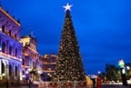 Kyiv starts mounting New Year tree