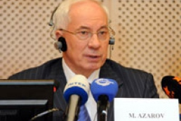 Azarov: No pause in infrastructure reconstruction process