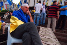 Language law protesters from regions flocking in Kyiv