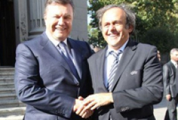 Platini thanked Yanukovych for hosting Euro 2012