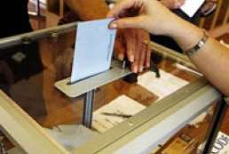 Exit poll held by secret ballot method
