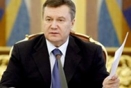 Yanukovych congratulates Parliament's leadership on their election