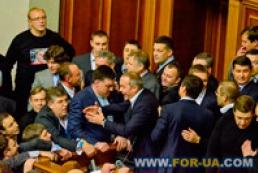 Rybak apologizes to Ukrainians for brawls in Parliament