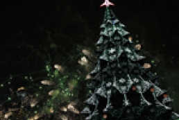 Principal New Year tree of the country shines and shimmers