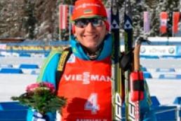 Pidhrushna wins bronze medal in women's pursuit in 2013 Biathlon World Championship
