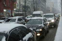 Kyiv gets stuck in jams