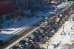 Kyiv gets stuck in jams again