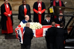 Last respects paid to Lady Thatcher