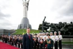 Yanukovych congratulates Ukrainians on Victory Day