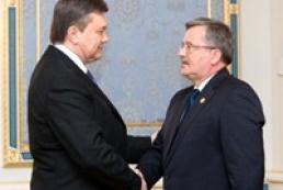 Yanukovych thanks Komorowski for supporting Ukraine's European integration