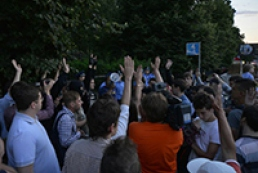 Protesters near Kyiv police department not file any claims