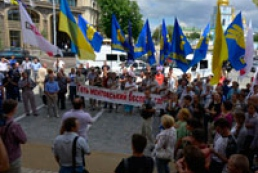 Protest near Kyiv central police department ends