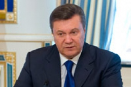 Yanukovych congratulates Rhythmic Gymnastics World Cup participants