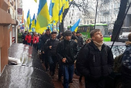 Hundreds of people come to Kyiv to participate in rallies