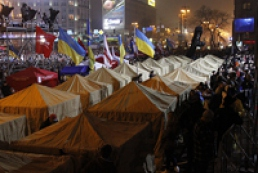 Opposition tent camp in Yevropeiska Square dismantled