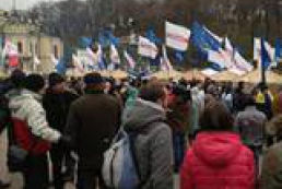 Party of Regions gathers rally in Yevropeiska Square