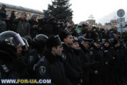 Berkut special forces on duty in Maidan