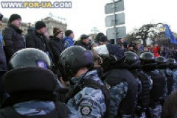 Police do not know how many people participate in Kyiv rally