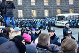 Students join action near Cabinet