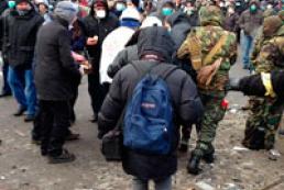 A protester gravely injured in Hrushevsky Street