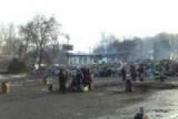 Kyiv center stands still