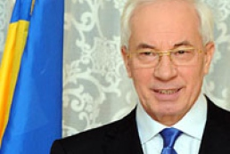 Azarov says goodbye to Cabinet's staff
