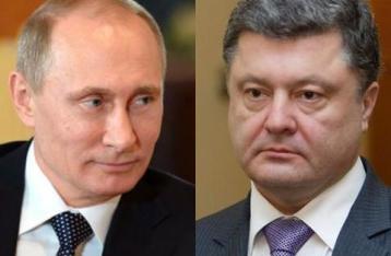 Порошенко обсудил с Путиным возможность прекращения огня на востоке Украины