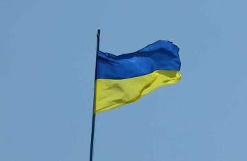 Над горсоветом Константиновки установлен флаг Украины