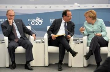 Меркель, Олланд і Путін висловилися за припинення вогню на Донбасі
