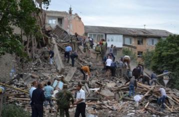 У Сніжному Донецької області внаслідок обвалення будинку загинуло четверо людей
