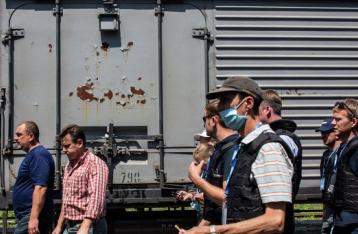 В Харьков прибыл поезд с телами погибших при крушении «Боинга-777»