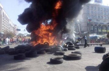 На Майдані горять шини