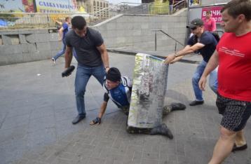 В ходе беспорядков в центре Киева пострадали три человека
