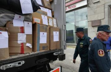 Колона з гуманітарною допомогою із РФ перетне кордон у Харківській області